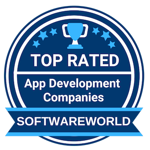Software World Badge informing that Droids On Roids is top rated app development company