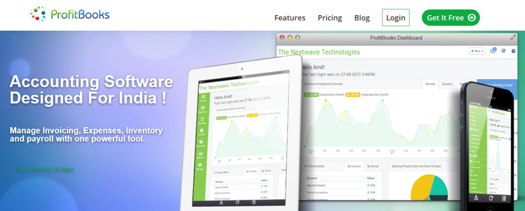 ProfitBooks Top Accounting Software India