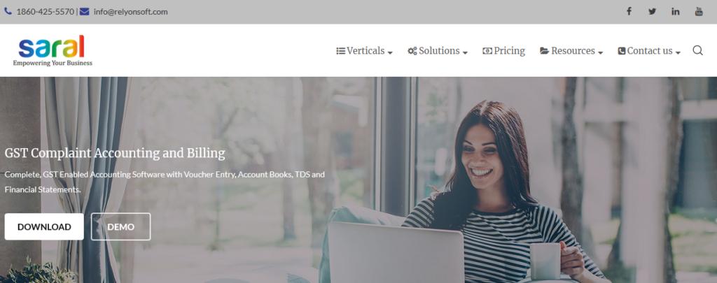Saral Top Accounting Software India