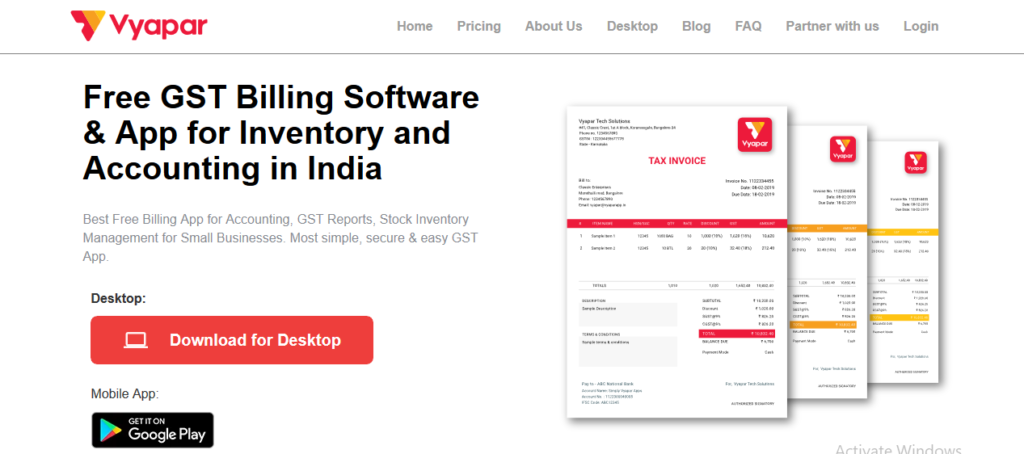 Vyapar Top Accounting Software India