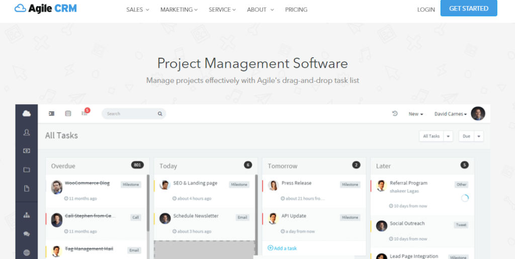 SoftwareWorld: Top 30+ Best Project Management Software & Tools of 2021 - AgileCRM
