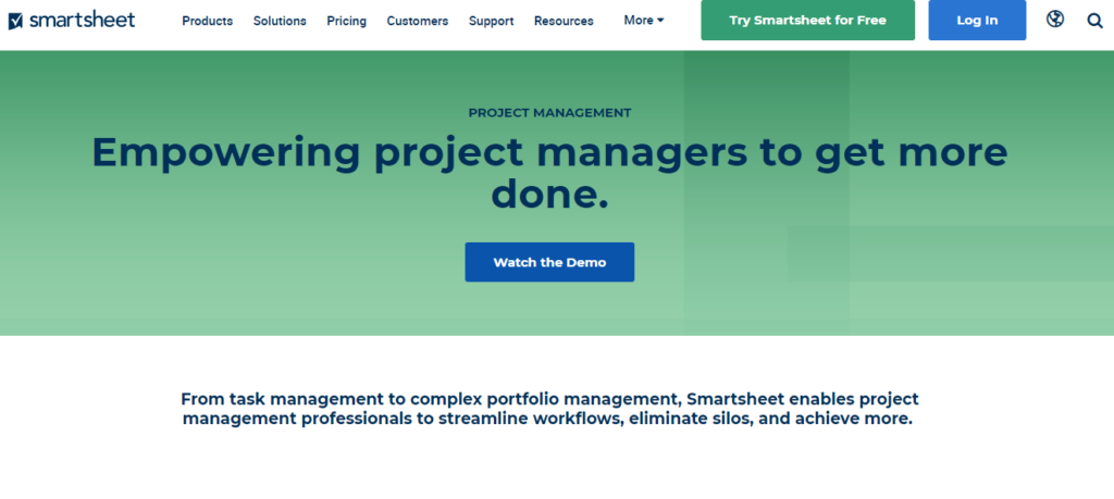 SoftwareWorld: Top 30+ Best Project Management Software & Tools of 2021 - SmartSheet