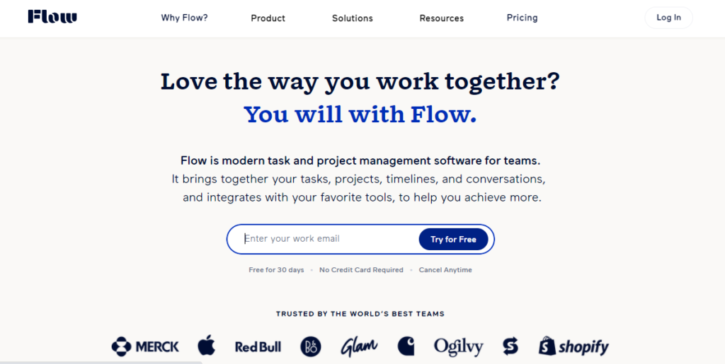 SoftwareWorld: Top 30+ Best Project Management Software & Tools of 2021 - Flow