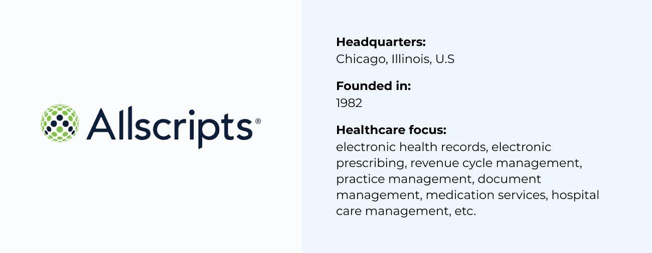Allscripts best Healthcare Software Company