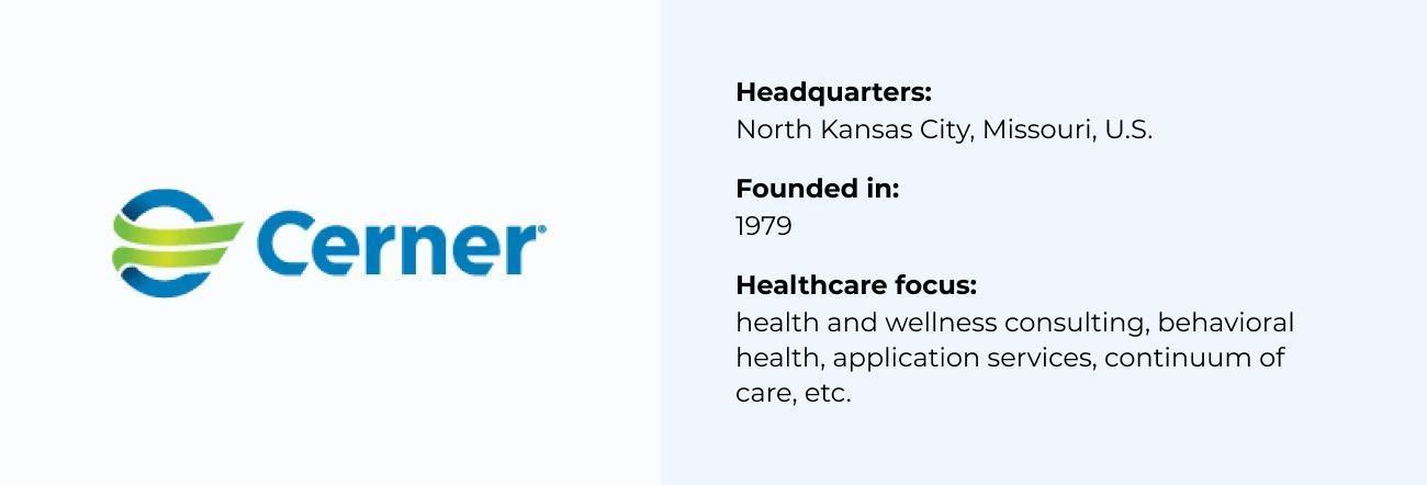 Cerner Corporation best Healthcare Software Company