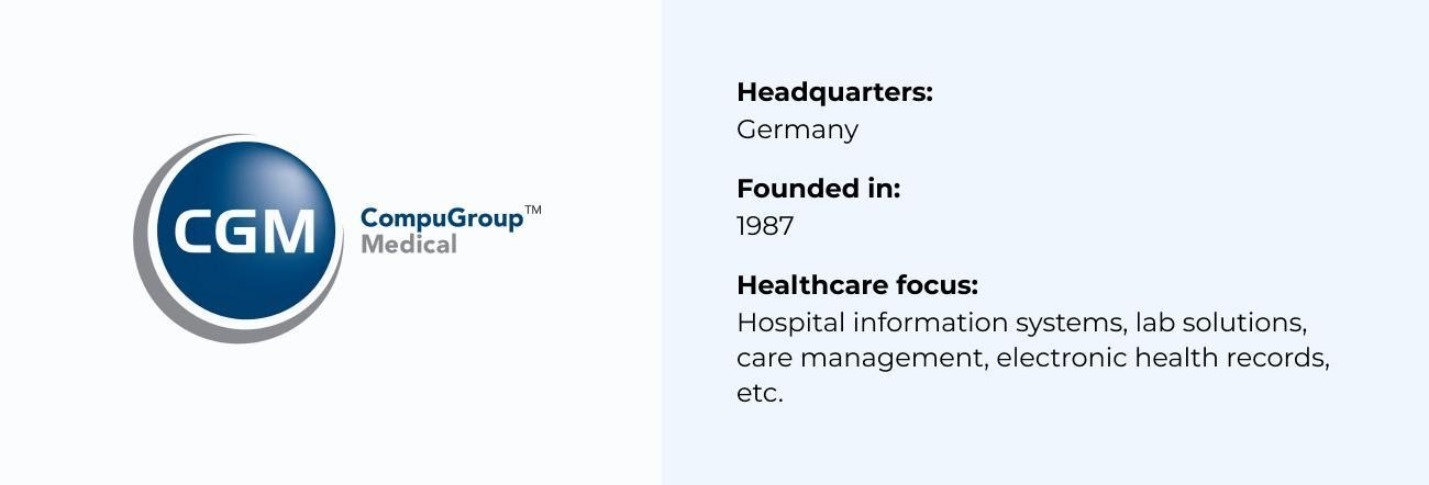 CompuGroup best Healthcare Software Company