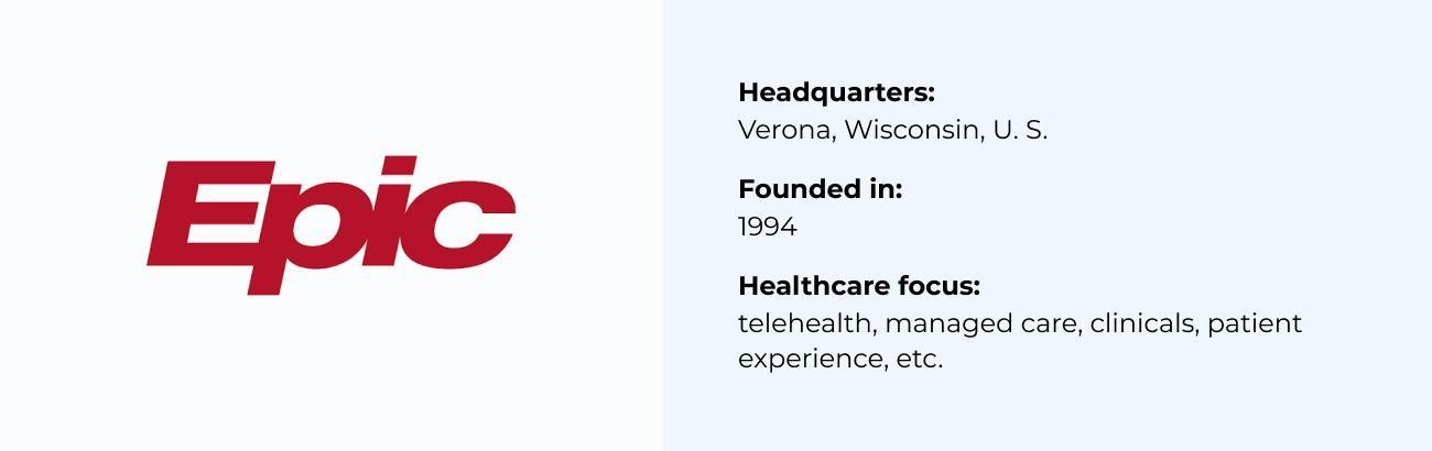 Epic Systems best Healthcare Software Company