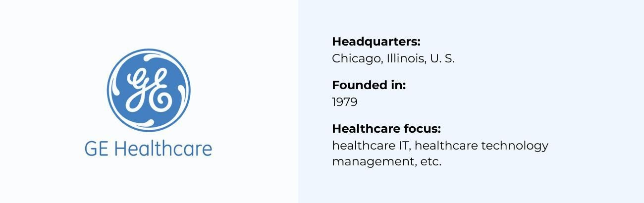 GE Healthcare best Healthcare Software Company