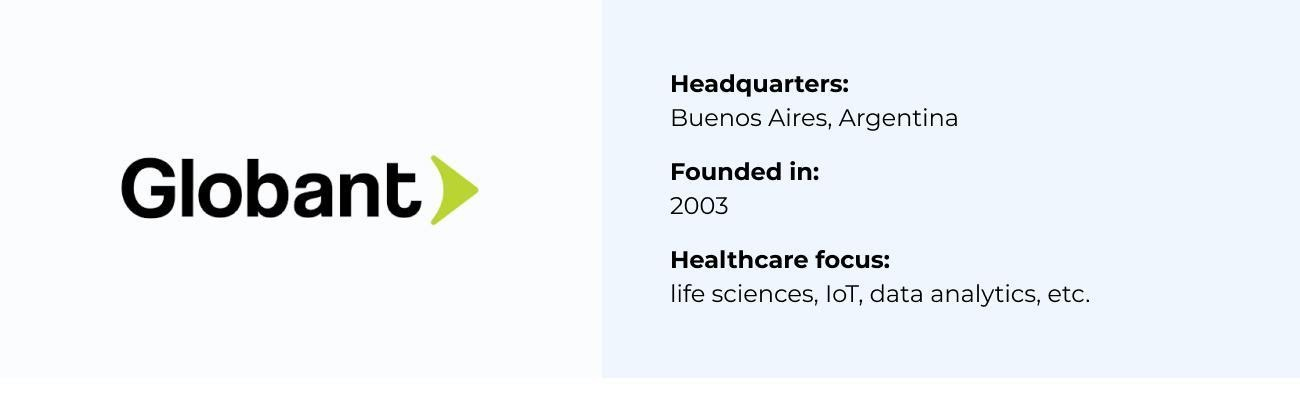Globant best Healthcare Software Company