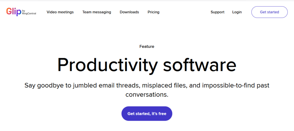 Glip-best-software-for-productivity