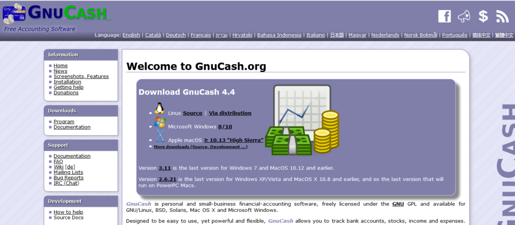 GnuCash free accounting software
