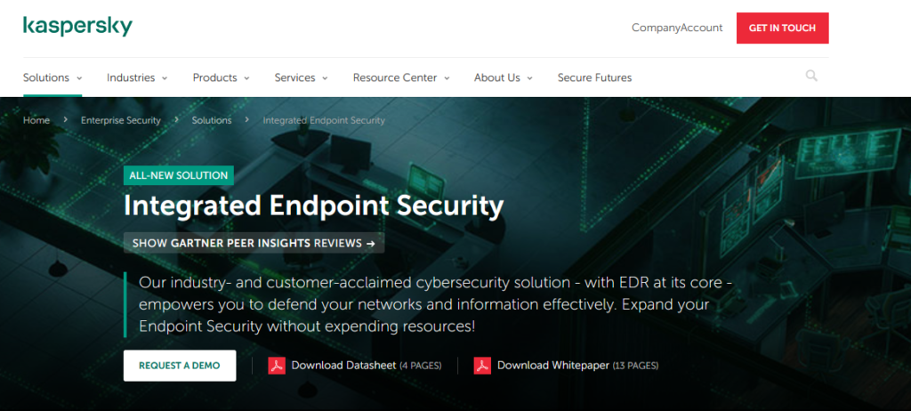 Kaspersky Endpoint Security best Computer Security Software