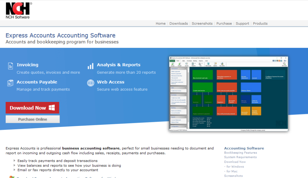 NCH Software free accounting software
