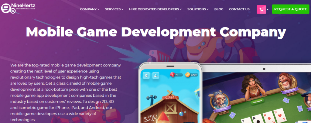 NineHertz-top-game-development-company