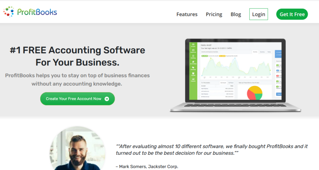 Profitbooks free accounting software