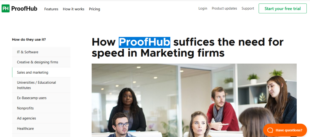 ProofHub Best Marketing Project Management Software