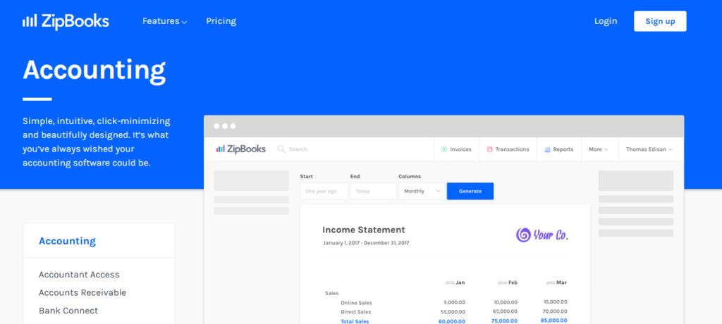 ZipBooks free accounting software