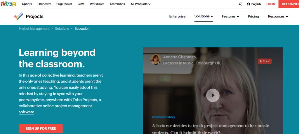 Zoho-education-project-mangement-software