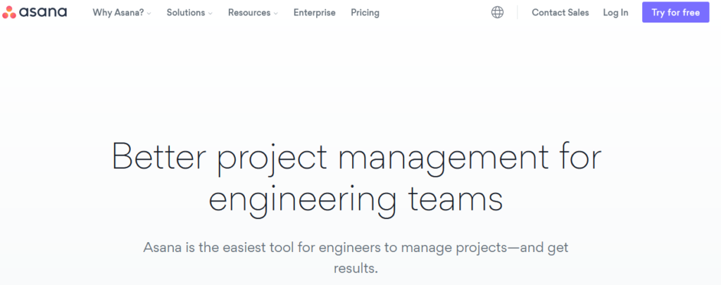 asana Engineering Project Management Software