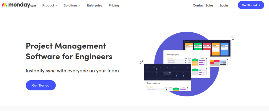 monday Engineering Project Management Software