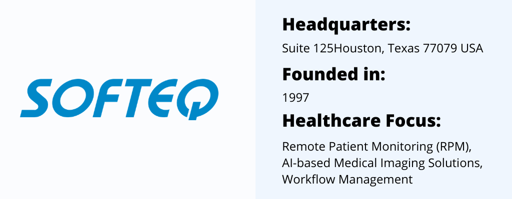 Softeq best Healthcare Software Company