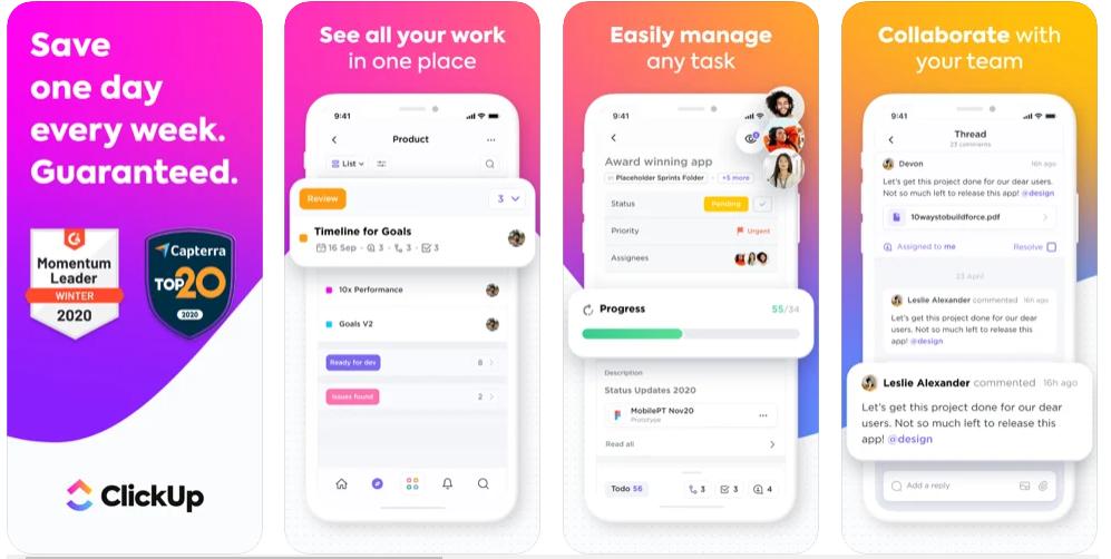 ClickUp best Project Management App