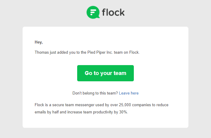 Flock email marketing