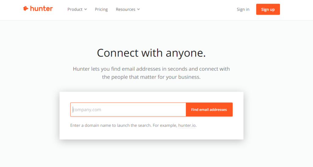 Hunter Email Finders Tool