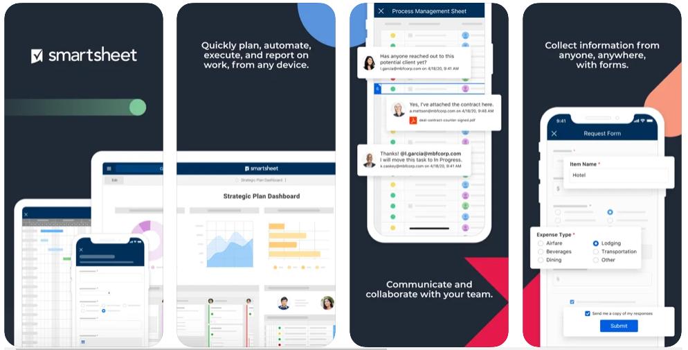 SmartSheet best Project Management App