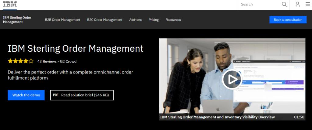 IBM Sterling Order Management Software
