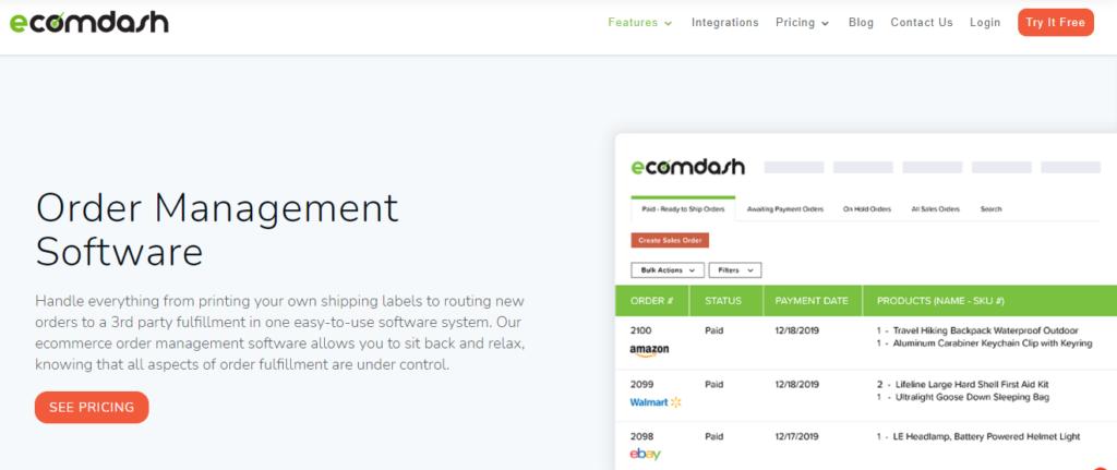 ecomdash Order Management Software